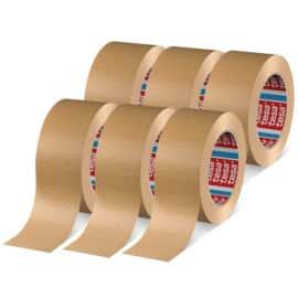 Pack de 6 cintas adhesivas Tesa marrón. Ofertas en material de oficina, material de oficina barato