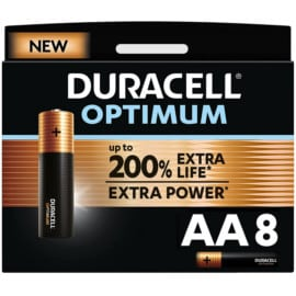Pack de 8 pilas Duracell Optimum AA barato. Ofertas en supermercado