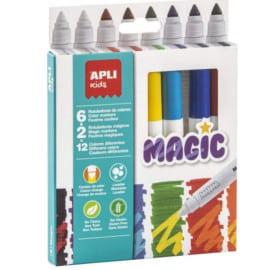 Pack de 8 rotuladores APLI Kids Magic barato. Ofertas en material escolar, material escolar barato