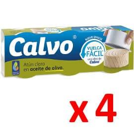 Pack de atún claro Calvo barato, latas de atún de marca baratas, ofertas en supermercado