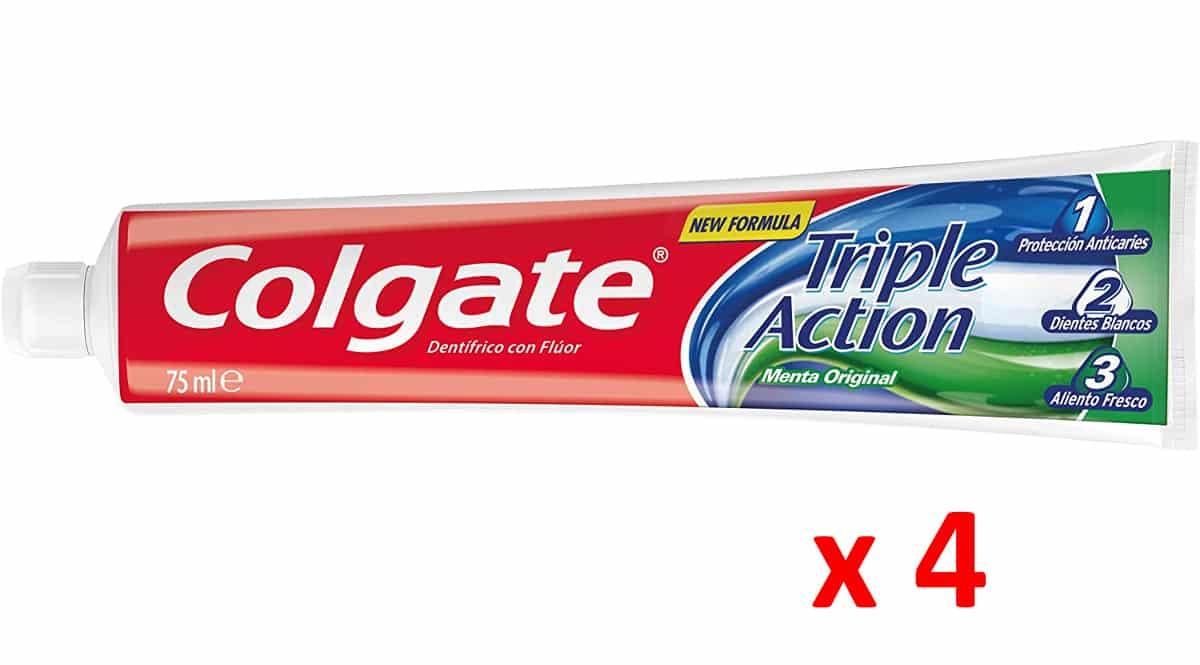 Pasta de dientes Colgate Triple acción barata, pastas de dientes de marca baratas, ofertas supermercado, chollo