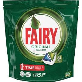 Pastillas para lavavajillas Fairy Original All in One baratas, pastillas lavavajillas de marca baratas, ofertas en supermercado