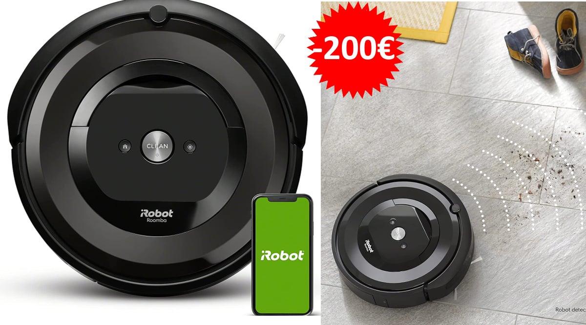 Robot aspirador iRobot Roomba e6192 barato, robots de aspiración de marca baratos, ofertas hogar, chollo