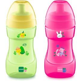 ¡Precio mínimo histórico! Vaso de aprendizaje para bebé MAM Sports Cup sólo 4.33 euros. 60% de descuento. En verde y en rosa.