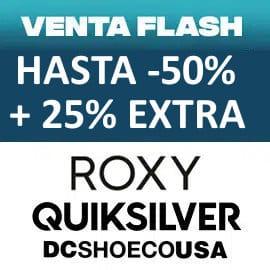 Ventas Flash Quiksilver, Roxy y DC Shoes octubre, ropa de marca barata, ofertas en calzado