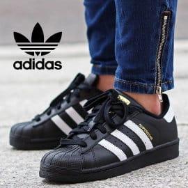 Zapatillas Adidas Originals Superstar negras baratas, calzado de marca barato, ofertas en zapatillas